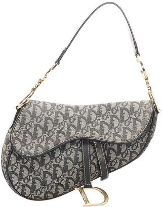Christian Dior pre-owned Oblique Saddle shoulder bag