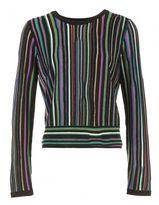 Diane von Furstenberg Laser Stripe Sweater