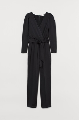 H&M Puff-sleeved Jumpsuit