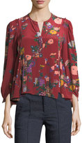 Isabel Marant Ivia Floral-Print Silk Blouse