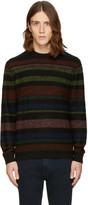Paul Smith Black Striped Merino Pullover