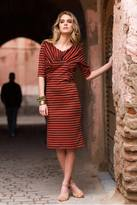 Shabby Apple Nador Striped Sheath Dress