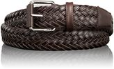 Tumi Leather Braided Belt