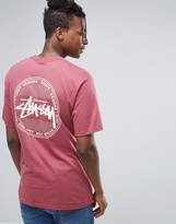 Stussy T-shirt With Vintage Dot Back Print