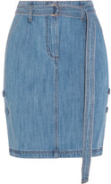 SteveJ & YoniP Steve J & Yoni P - Belted Denim Skirt - Mid denim
