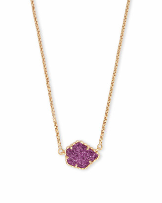 Kendra Scott Tess Gold Pendant Necklace in Amethyst Drusy