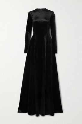 Balenciaga Stretch-velvet Gown - Black
