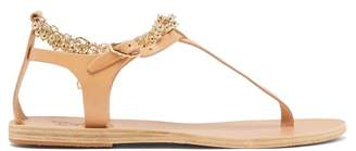 Ancient Greek Sandals Chrysso Ball-chain Leather Sandals - Womens - Tan