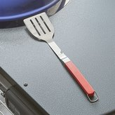 Crate & Barrel Red Grip BBQ Spatula with Bottle Opener