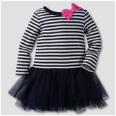 Gerber Graduates Gerber® Graduates® Toddler Girls' Stripe Long Sleeve A line Dress - Navy/White