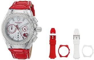 Technomarine Women's Cruise Stainless Steel Quartz Watch with Leather Calfskin Strap