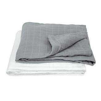 green sprouts Muslin Swaddle Blanket Organic Cotton (One Size, Grey, Pack of 2)