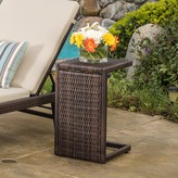 Christopher Knight Home Bucharest Outdoor Wicker Accent Table