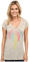 Roper 9752 Lt. Wt. Heather Jersey V-Neck Tee