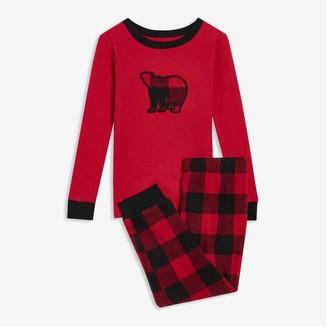 Joe Fresh Toddler Boys' 2 Piece Sleep Set, Red (Size 2)