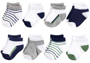 Yoga Sprout Unisex 0-24 Months Baby Socks, 8-Pack