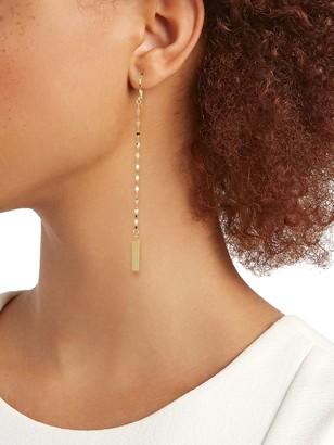 Sphera Milano 14K Yellow Gold Bar Disc-Chain Drop Earrings