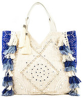 Sam Edelman Kendall Tasseled Eyelet Hobo Bag