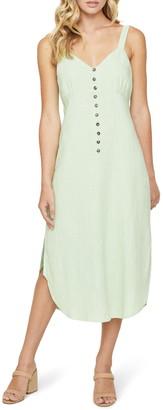 Lost + Wander Garden Girl Sleeveless Linen Blend Midi Dress