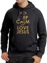 lepni.me Hoodie Love Jesus Christian gifts Christian shirts Jesus shirt ( Black Yellow)