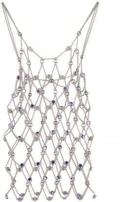 Paco Rabanne Crystal-embellished Chain Top