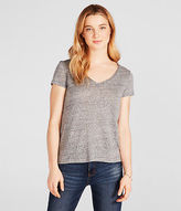 Aeropostale Womens Prince & Fox Solid Hampton V-Neck Tee Shirt Gray