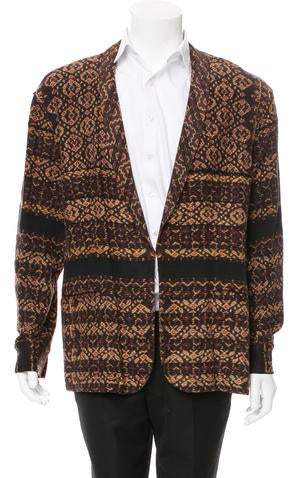 Baja East Abstract Print Shawl-Lapel Blazer w/ Tags