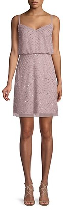 Adrianna Papell Beaded Blouson Tank Dress