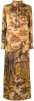 F.R.S For Restless Sleepers Long Botanical Print Shirt Dress