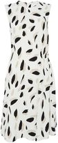 HUGO BOSS Sleeveless printed shift dress