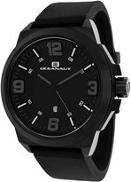 Oceanaut Mens Armada Black Rubber Strap Watch