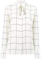 Valentino windowpane print shirt - women - Silk - 44