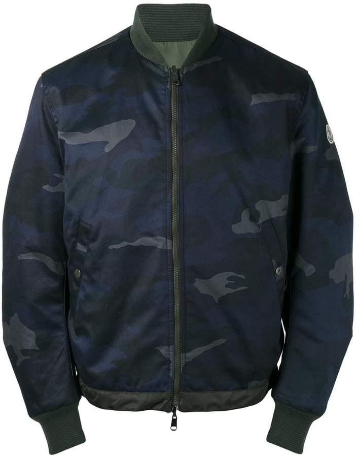 Moncler camouflage khaki trim bomber jacket
