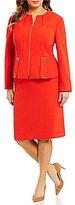 Tahari ASL Plus Peplum Skirt Suit