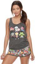 Juniors' Pajamas: Marvel Superheroes Tank & Shorts PJ Set
