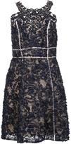 Marchesa embroidered flower dress - women - Polyester - 0