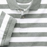 Charles Tyrwhitt Grey and white stripe pique polo