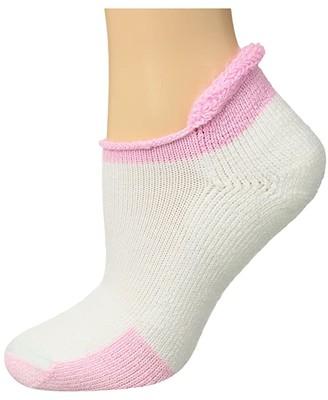 Thorlos Tennis Roll Top Single Pair (White/Pink) Crew Cut Socks Shoes