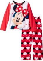 AME Minnie Mouse Hearts Fleece PJ Set (Little Girls & Big Girls)