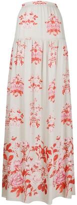 Giambattista Valli Floral-Print Maxi Skirt