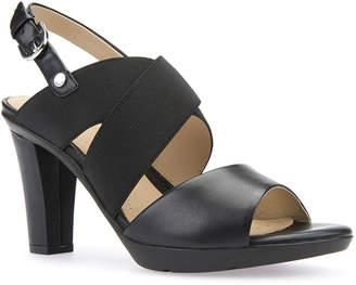 Geox Leather High-Heel Slingback Sandals