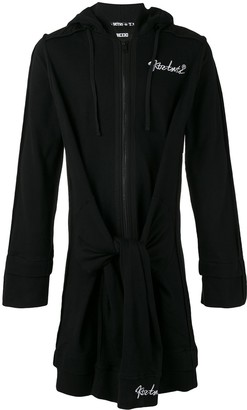 Kokon To Zai Elongated Tie Waist Hoodie