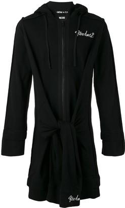 Kokon To Zai elongated tie waist hoodie