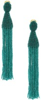 Oscar de la Renta Long Beaded C Tassel Earrings Earring