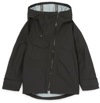 Burberry Kids Location Print Hooded Jacket