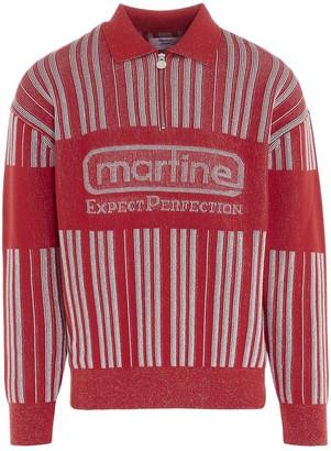 Martine Rose Half Zip Striped Sweater