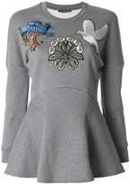 Alexander McQueen embroidered sweatshirt top