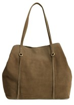 Hobo Kingston Suede Tote - Green