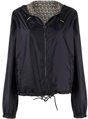 Salvatore Ferragamo Gancini-print reversible jacket