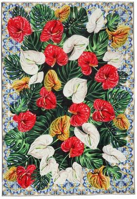 Dolce & Gabbana Floral-printed scarf
